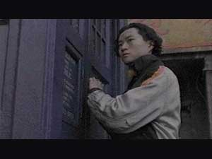 Chang Lee (Yee Jee Tso) opens TARDIS door